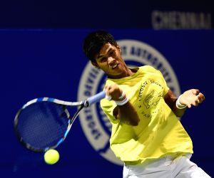 ATP Chennai Open 2015 - Somdev Devvarman - practice session