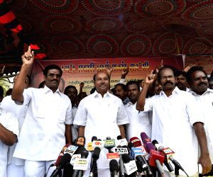 PMK protests against land acquisition ordinance