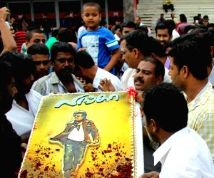 Rajinikanth fans throng theatres to watch 'Lingaa