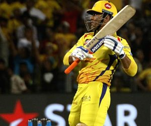 Chennai Super Kings' MS Dhoni in action during an IPL 2018 match between Chennai Super Kings and Kings XI Punjab at Maharashtra Cricket Association Stadium in Pune on May 20, 2018.