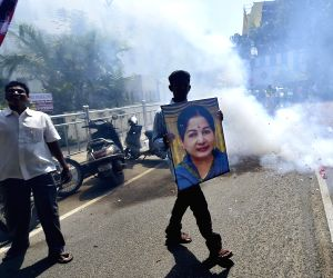 AIADMK supporters celebrates by-poll win