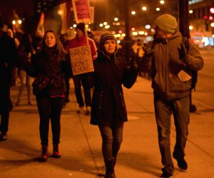 Protested against the grand jury decisions in the death of Michael Brown in Fugerson