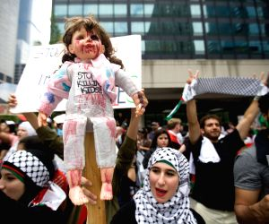 Pro-Palestinian protest against the recent deaths of children in the Gaza Strip