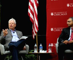 U.S.-CHICAGO-NOBEL PRIZE IN ECONOMICS-RICHARD H. THALER-PRESS CONFERENCE