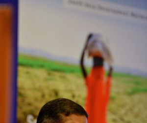Chief Economic Advisor (CEA) Arvind Subramanian at the launch of a World Bank report on South Asia's Hotspots: The Impact of Temperature and Precipitation Changes on Living Standards at ...