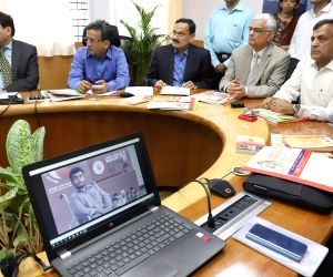Chief Election Commissioner, Om Prakash Rawat with Election Commissioner Ashok Lavasa Karnataka Chief Election Commissioner Sanjiv Kumar during the launch of publicity material on election ...