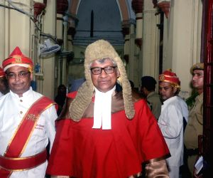 Chief Justice of Calcutta High Court Justice Thottathil B Radhakrishnan after taking oath in Kolkata on April 4, 2019.