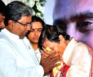 Siddaramaiah mourns Udupi Rajagopalacharya Ananthamurthy death