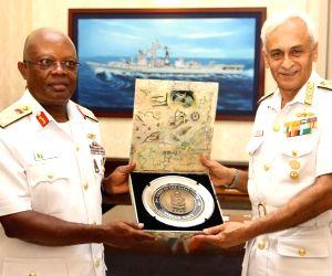 Nigerian Navy Chief meets Admiral Sunil Lanba