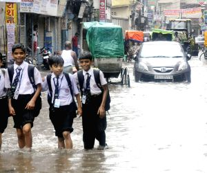 Waterlogged streets of Patna