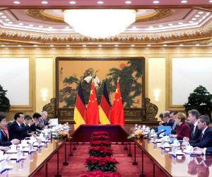 CHINA GERMANY LI KEQIANG MERKEL TALKS