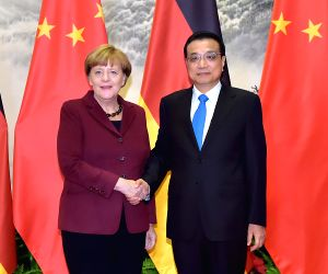 CHINA GERMANY LI KEQIANG MERKEL TALKS