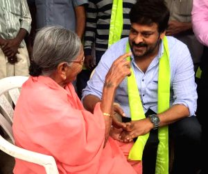 Chiranjeevi Participatged in Harita Haram at Jublee HIlls in Hyderabad