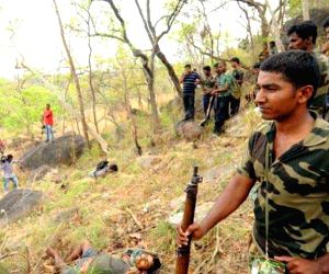 20 smugglers gunned down in Andhra forest