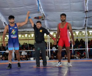 : Chittorgarh: World Championship Silver Medalist Sajjan Bhanwal puts up a dominating show to secure Gold in Tata Motors U-23 Junior National Championship and a berth for the U23 World Championship ...