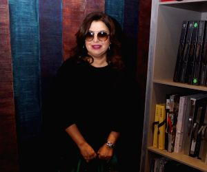 Farah Khan during inauguration of a showroom