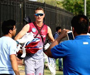 New Delhi: IPL 2017 - Delhi Daredevils - Practice Session - Chris Morris