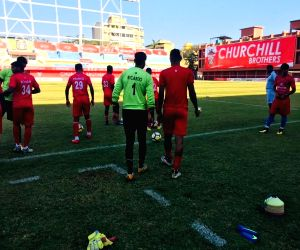 Practice session - Churchill Brothers FC Goa