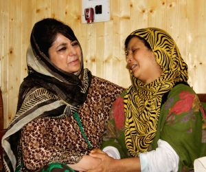 Hugs and tears -- CM Mehbooba meets families of Kashmir victims