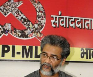 Communist Party of India (Marxist-Leninist) general secretary Dipankar Bhattacharya addresses a press conference in Patna, on July 19, 2017.