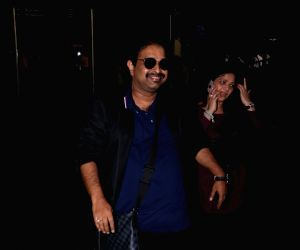 Shankar Mahadevan With Family Spotted At Airport
