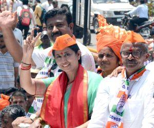 Belagavi (Karnataka): Karnataka Assembly polls - Lakshmi Hebbalkar files nomination papers