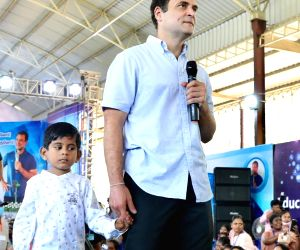 Free Photo: Congress Leader Rahul Gandhi interacts with the Professors at St. Xavier's College
