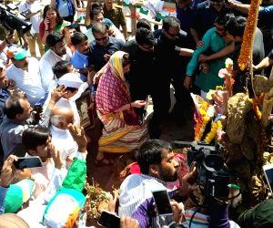 Congress General Secretary Priyanka Gandhi arrives to offers prayers at Kashi Vishwanath Temple in Varanasi, on March 20, 2019.