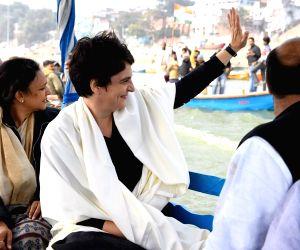 Priyanka Gandhi reaches Varanasi to meet BHU students