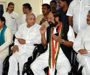 Uttam Kumar Reddy during a Congress meeting