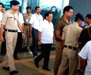 Dabolim (Goa): Narayan Rane at Goa Airport