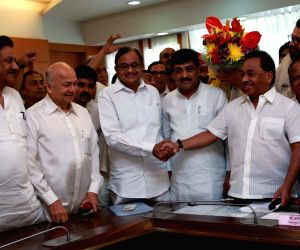 Chidambaram, Narayan Rane file RS nominations