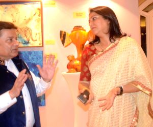 Priya Dutt during an art exhibition