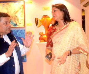 Priya Dutt during an art exhibition