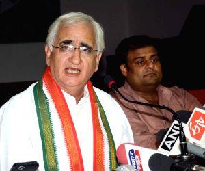 Salman Khurshid's press conference