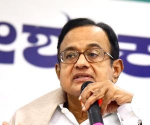 Congress leaders P. Chidambaram addresses at the party's Shakti app launch programme, in Bengaluru on July 28, 2018.