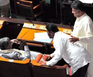 Congress legislators at Karnataka Assembly