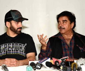 Congress' Lok Sabha candidate from Patna Sahib Shatrughan Sinha addresses a press conference in Patna on May 23, 2019.