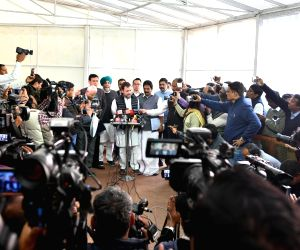 Budget Session - Rahul Gandhi talks to the media at Parliament
