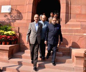 Ghulam Nabi Azad, Anand Sharma at Parliament