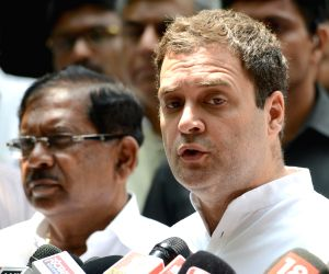 Rahul slams Jaitley for breaking news of Subramanian's quitting on FB