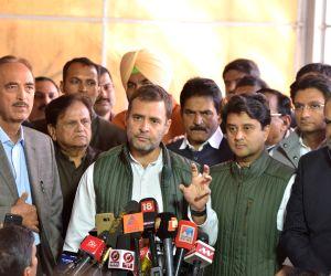 Parliament - Rahul Gandhi talks to the media
