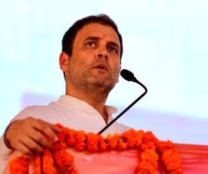 Sagwara (Rajasthan): Rahul Gandhi addresses a gathering