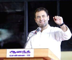 Sonia Gandhi unveils Karunanidhi's statue at DMK party office