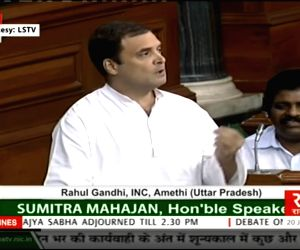 Rahul addresses in Lok Sabha