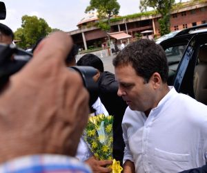 Rahul Gandhi arrives at Parliament