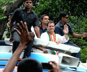 Karnataka Assembly polls - Congress roadshow - Rahul Gandhi