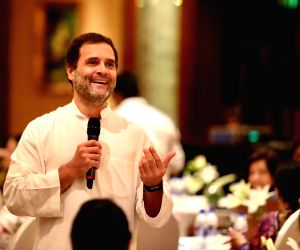 Rahul Gandhi during an interaction with CEOs
