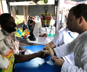 Rahul Gandhi during election campaign