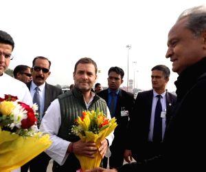 Rahul Gandhi at Gehlot' swearing-in ceremony